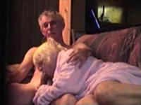 Hot milf sucking my granfather's cock
