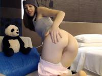 Petite teen stripping and teasing on webcam