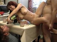 Red haired Milf getting her drunk ass fucked