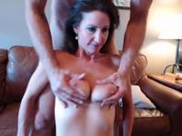 Older hottie with black hair gets fucked