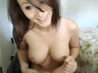 Busty hottie gets naked