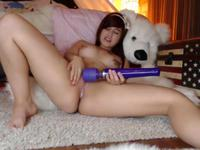Curvy minx is using a vibrator