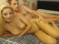 Sexy blonde is with a guy