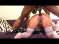 Woman is anally pounded
