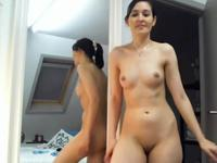 Sexy lady is dancing naked for us