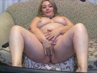 Mature blonde is showing off