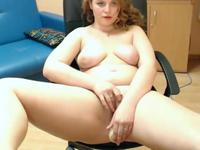A hot all natural bitch is teasing her cunt