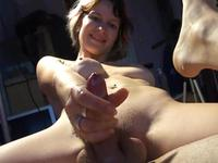Hot slut is pulling a cock