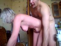 A granny is getting fucked