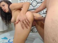 A hot thing is fucked by her man