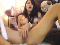 horny chick loves big toys on pussy control them NOW