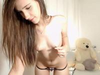 Beautiful girl shows off her charming body