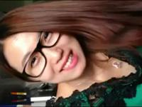 Young asian with glasses makes a blowjob