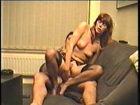 Pretty brunette milf girlfriend if fuck hard doggy style by his rare dude friend