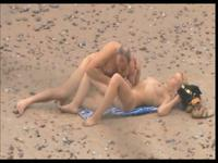 Older couple fucking on the beach
