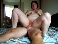 Pale amateur honey riding fast