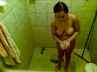 Lustful apartment owner put a hidden camara to look her lovely occupant,!damn!