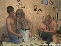 Four teen swingers