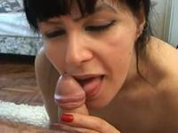 Talented milf sucks on a hard dong