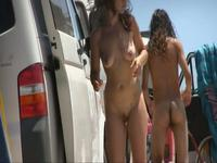 Hot natural chick at the nudist beach