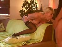 German blonde stuffed with a massive cock